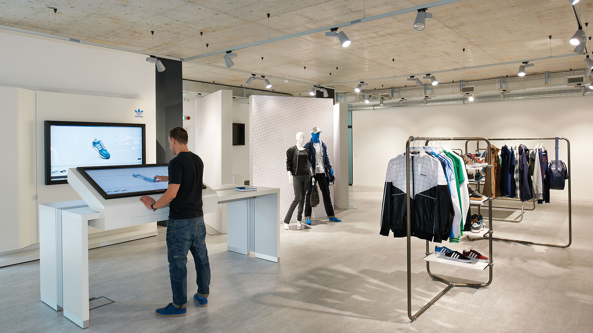 Dart stages the shop concept for adidas Originals in the cities of Fribourg, Zurich and Munich