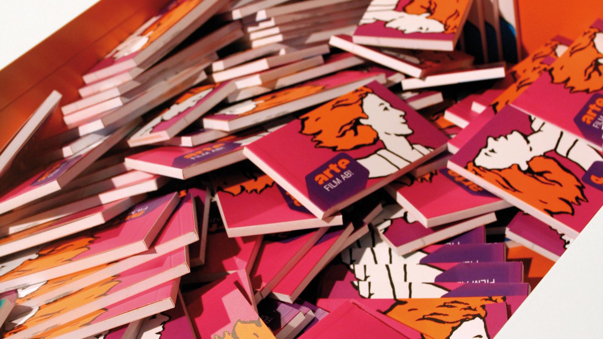 Dart iszeniert den Messestand von ARTE auf der Buchmesse Frankfurt 2010