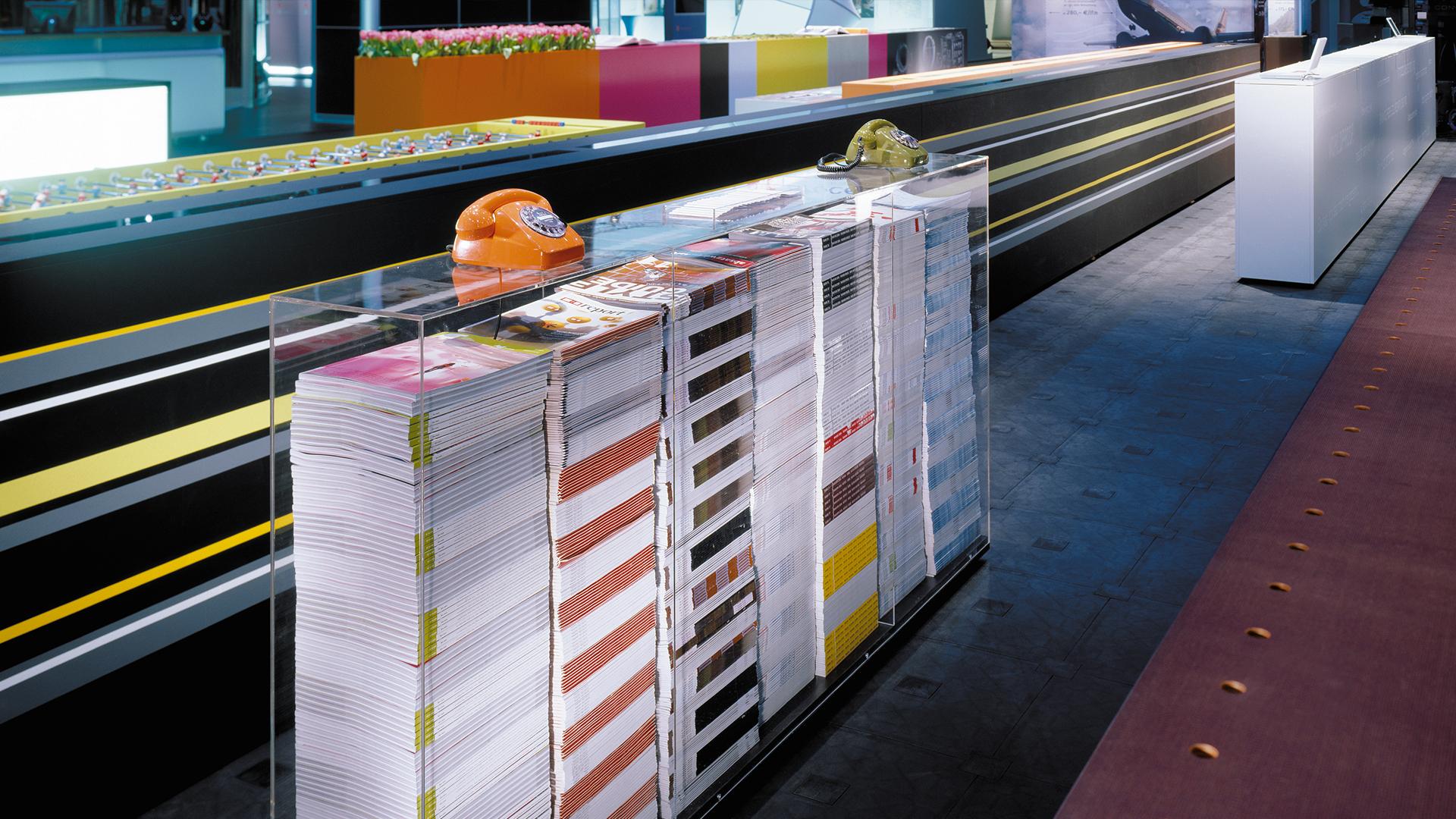 Dart inszeniert den eigenen Messestand der D'art Design Gruppe auf der EuroShop 2005