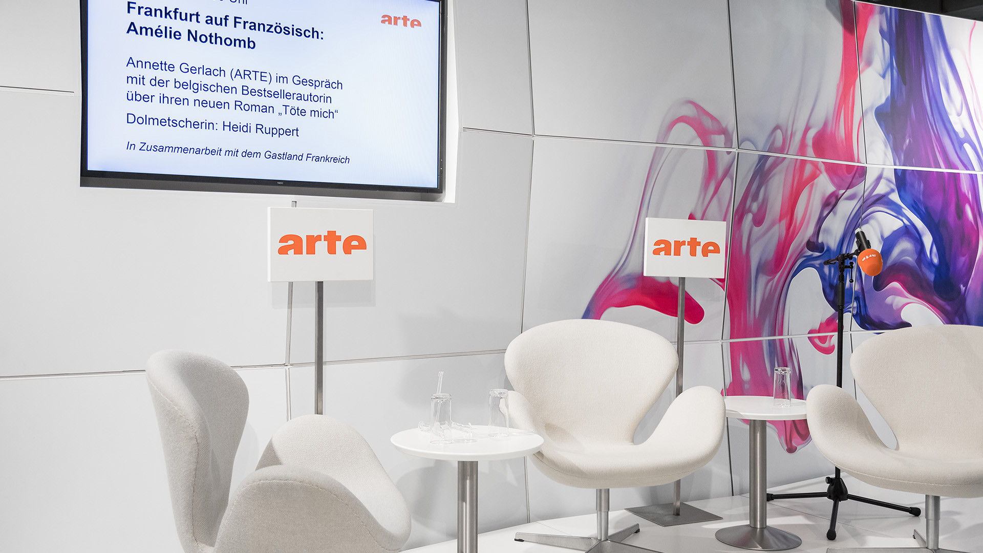 Dart stages the Arte fair stand at the Frankfurter Buchmesse 2017