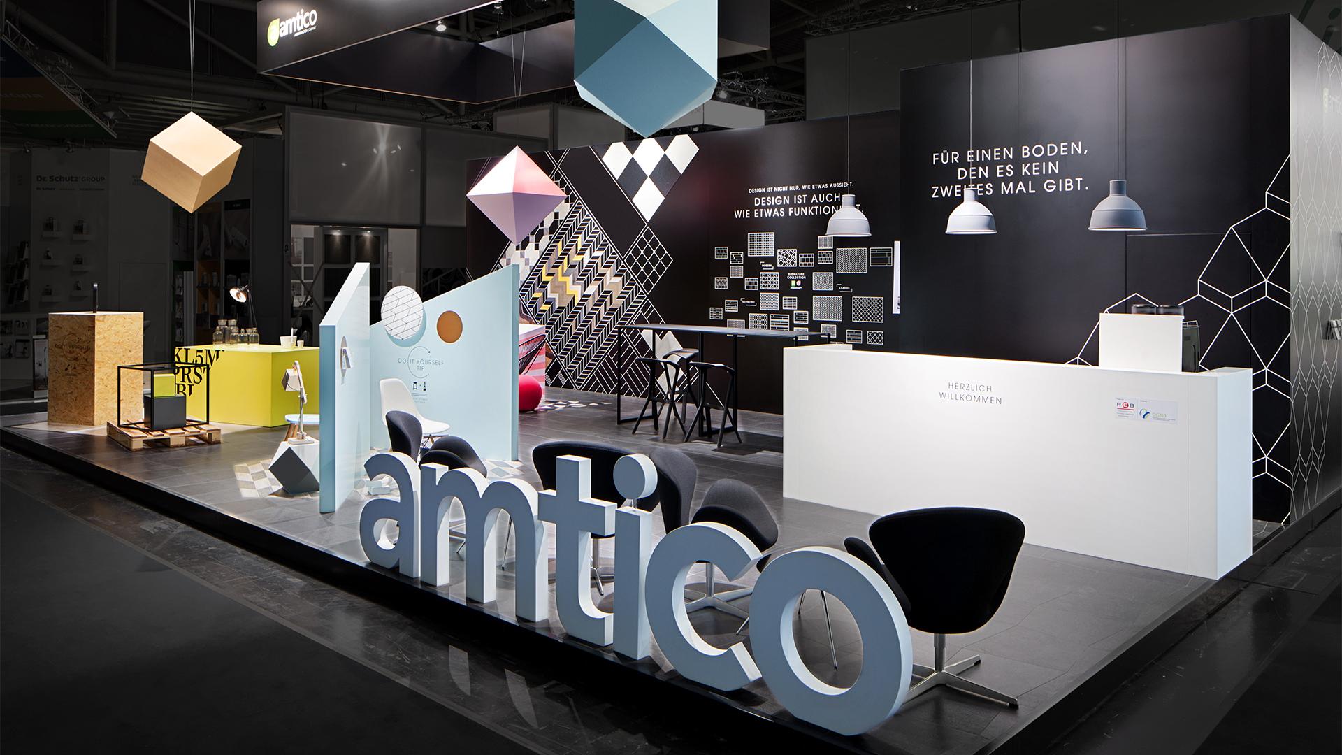 Dart inszeniert den Messestand von Amtico auf der Bau 2015
