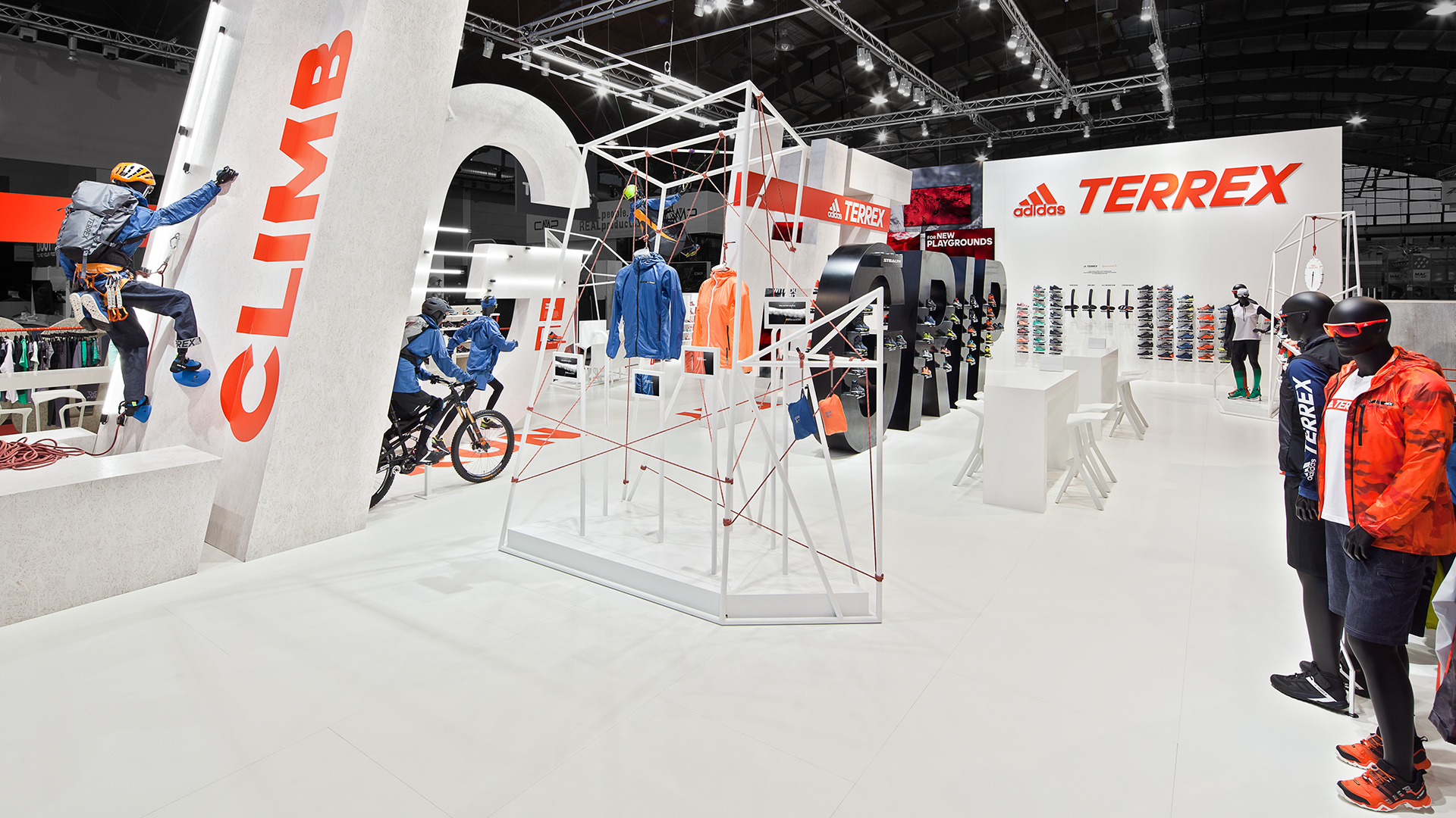 Dart stages the adidas fair stand at the OutDoor 2016