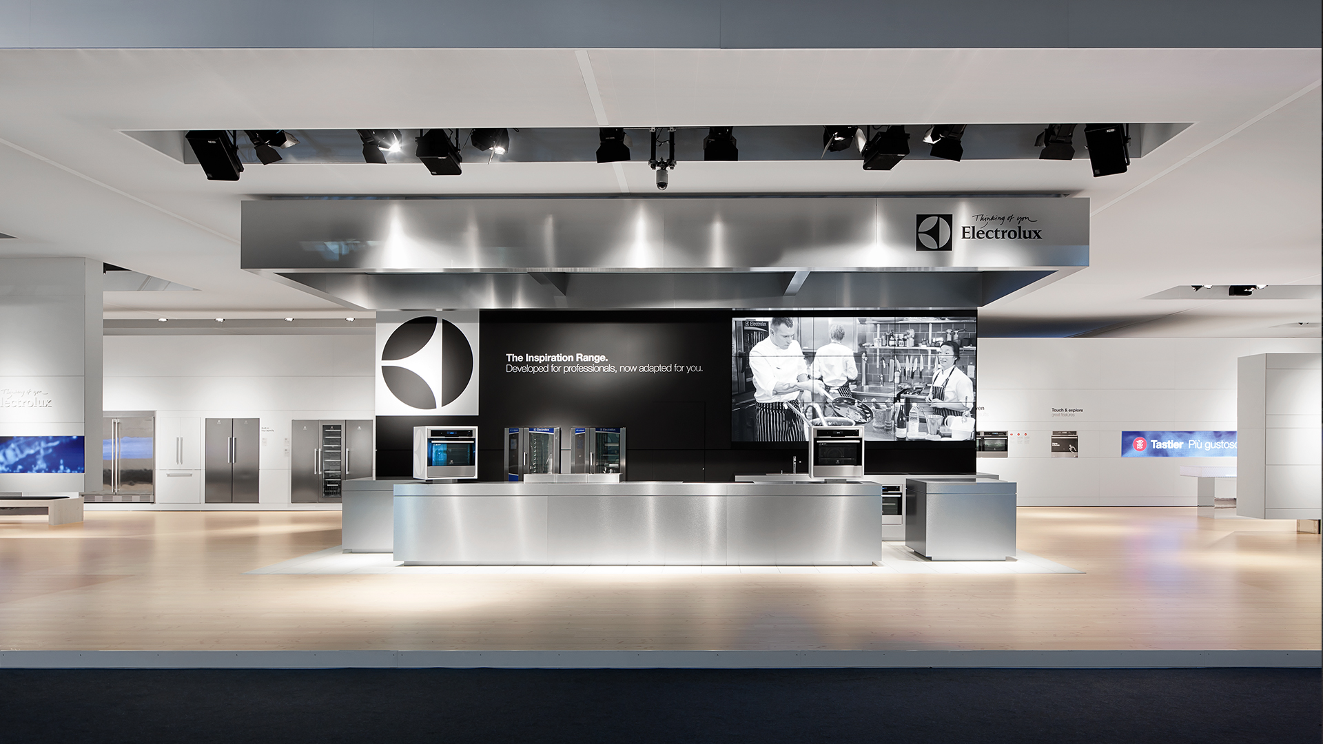 Dart stages the mediatecture for Electrolux at the EuroCucina 2012