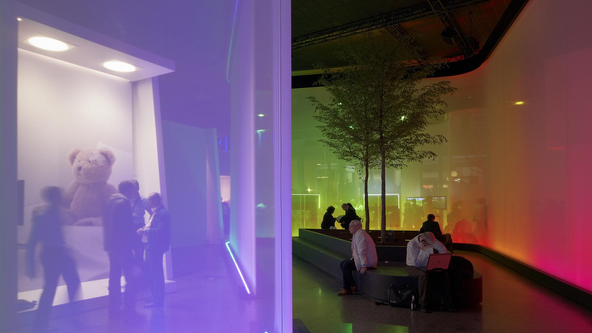 Dart inszeniert den Messestand von Philips auf der Light&Building 2010