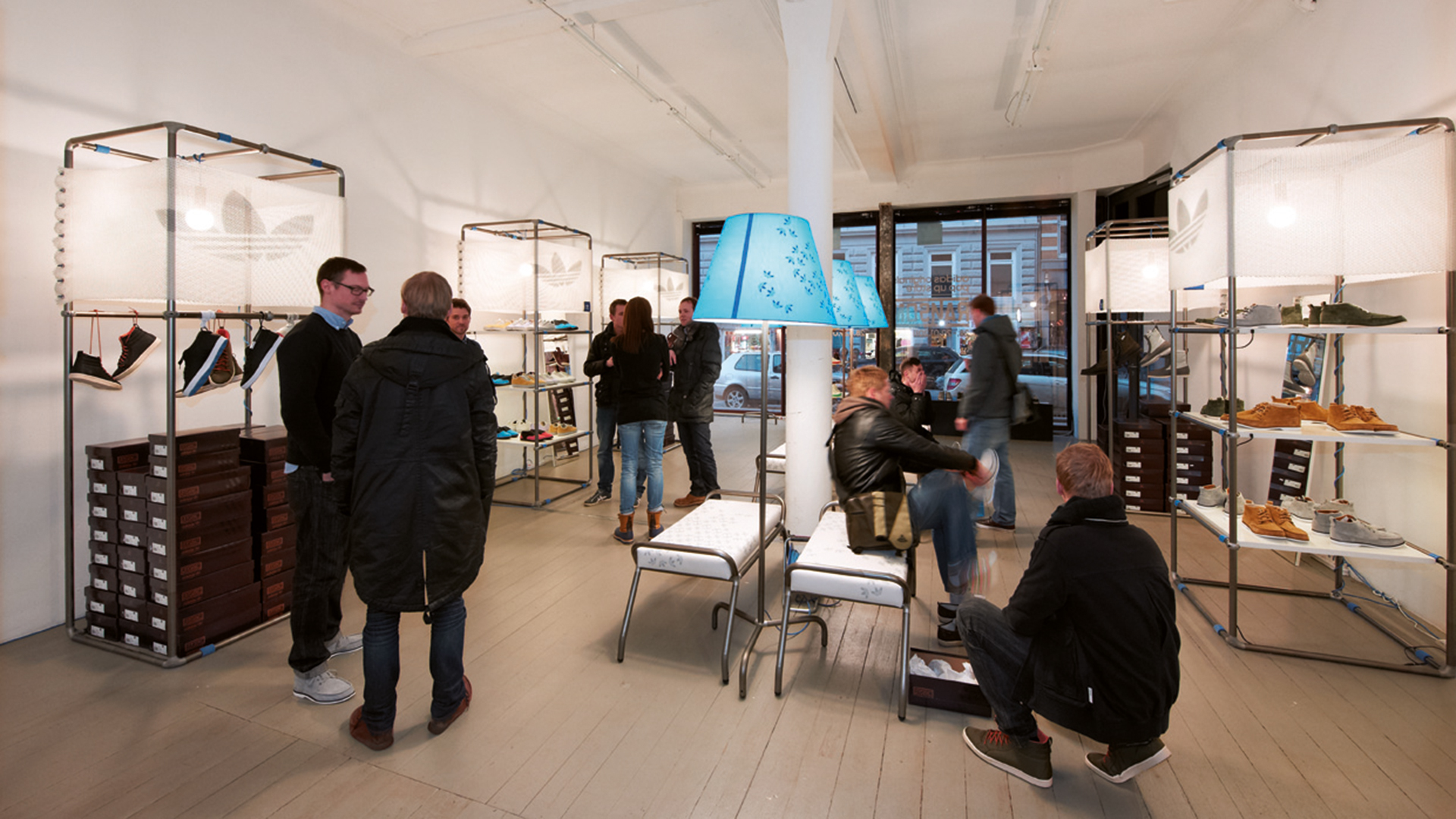 Dart stages the shop concept for adidas for the pop-up stores 2011