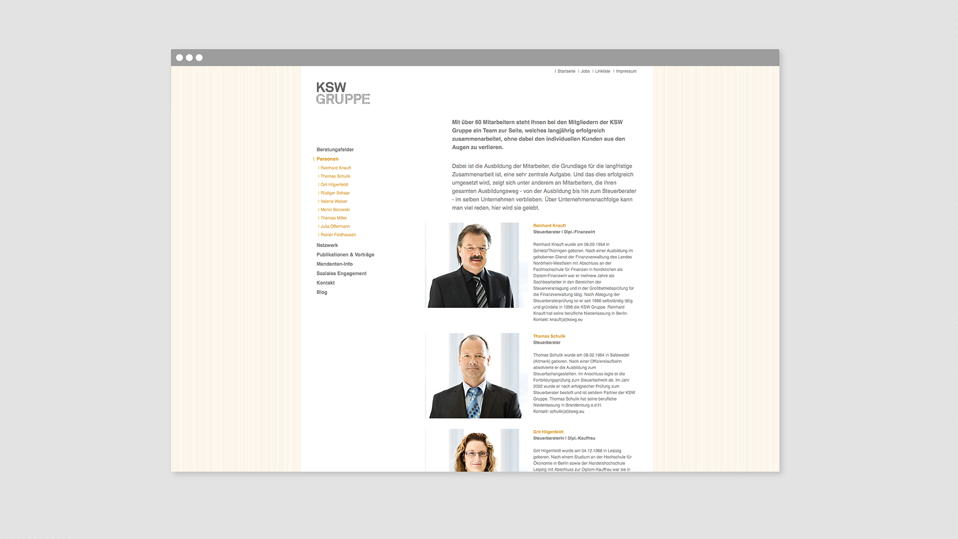 Dart stages the communication of the KSW Gruppe for the Corporate Design 2012
