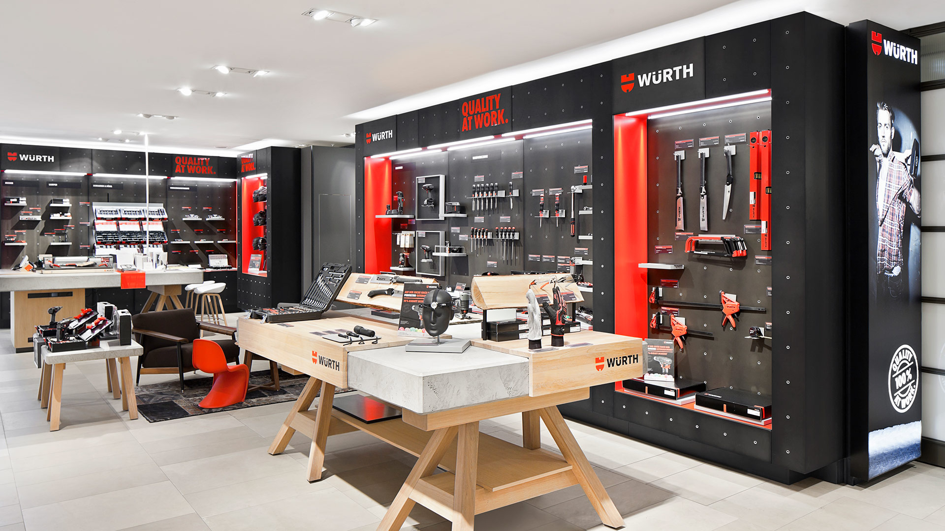 Dart stages Würth's shop concept for the Family Store 2016