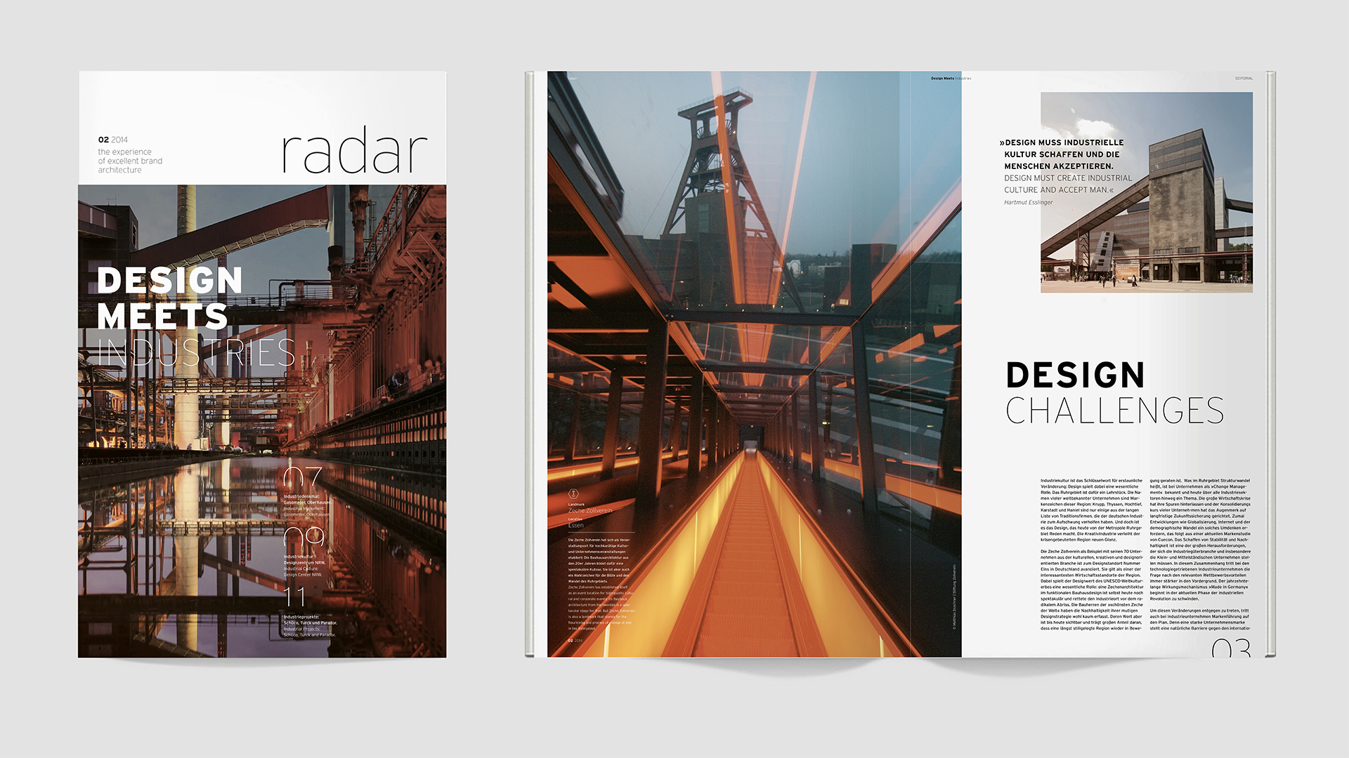 Dart stages the communication of the Dart Design Gruppe for the Radar Magazine 2014