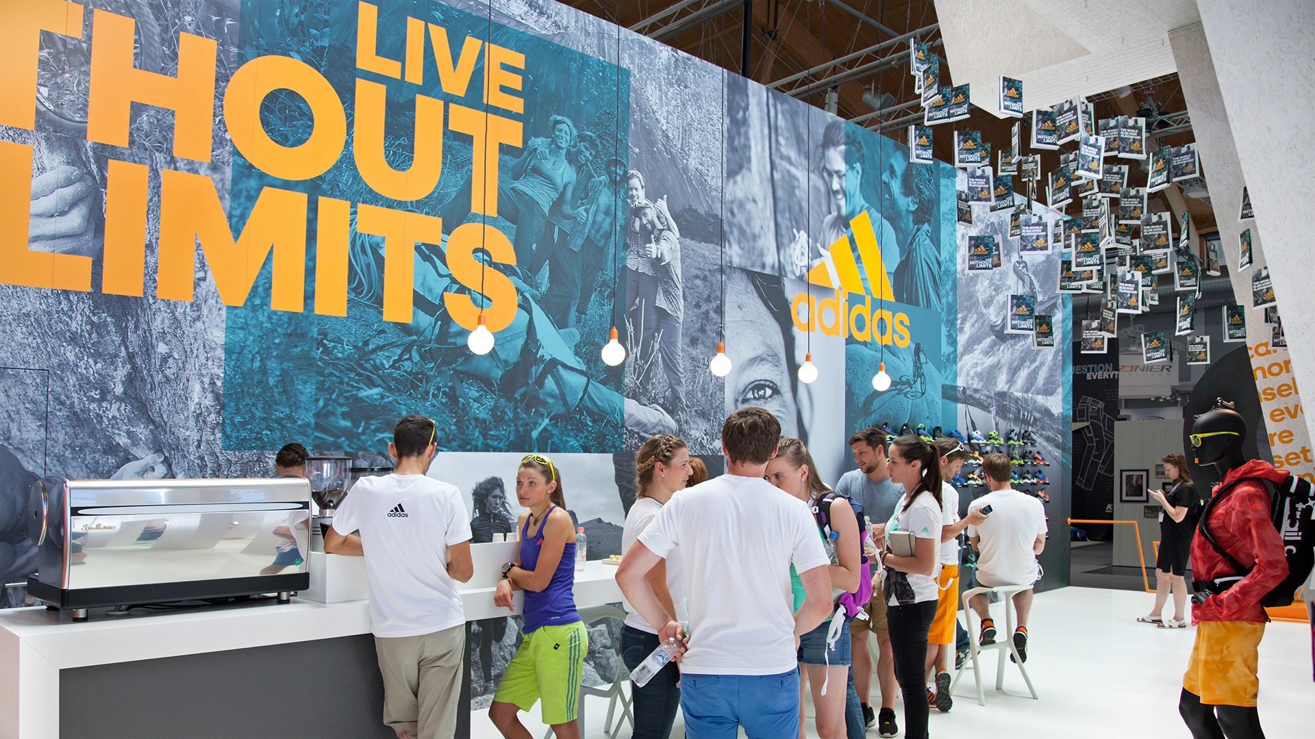 Dart stages the adidas fair stand at the OutDoor 2015